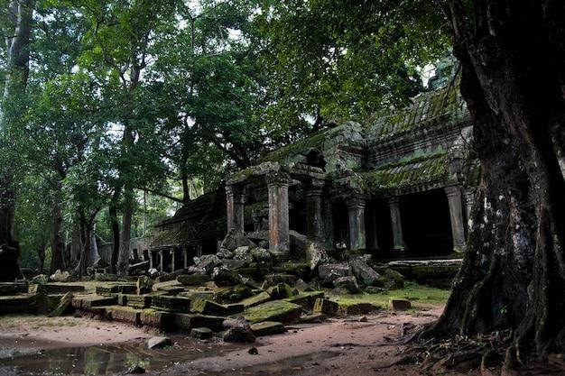 Templos religiosos no camboja de angkor wat
