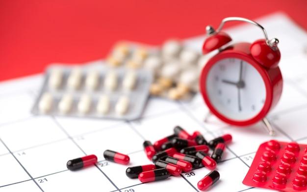 Tempo de close-up para medicamentos