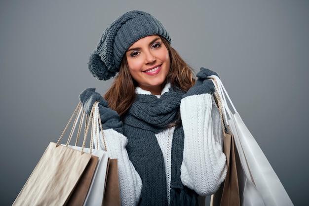 Tempo de compras durante o inverno