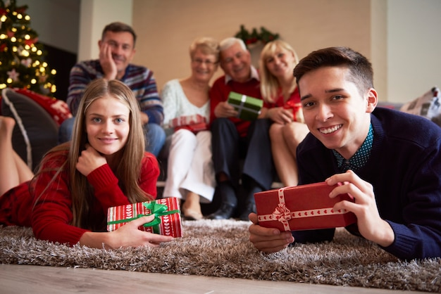 Tempo de natal com nossa familia