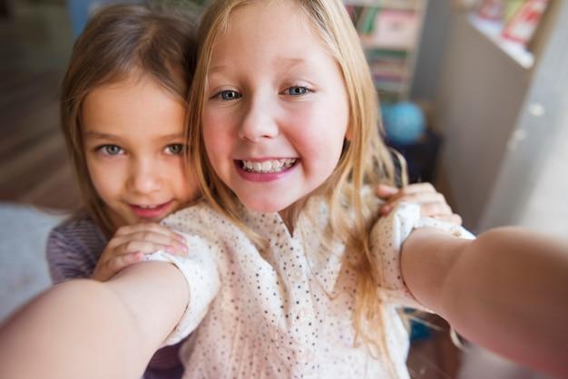 Tempo de selfie com minha irmã