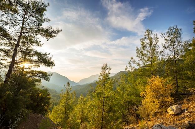 Temporada de outono nas montanhas kackar na região do mar negro da turquia. paisagem de belas montanhas.