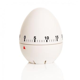 Temporizador branco em forma de ovo