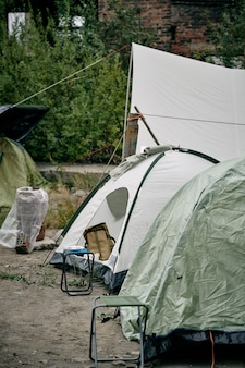 Tendas para migrantes