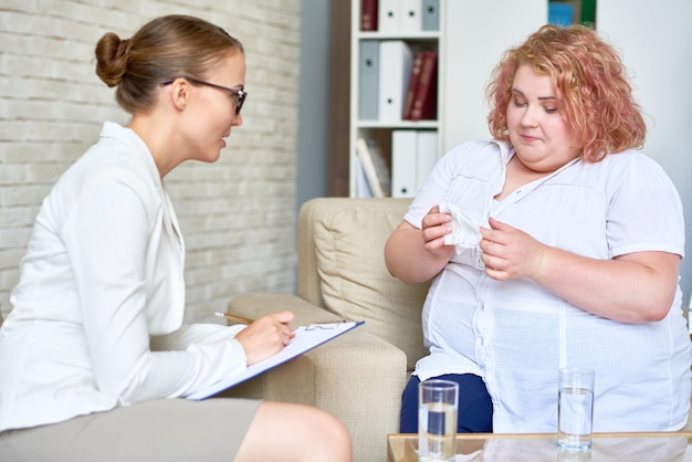 Tendo consulta com psiquiatra
