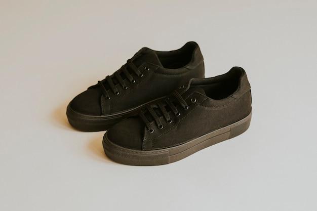 Tênis de lona preta sapatos unissex