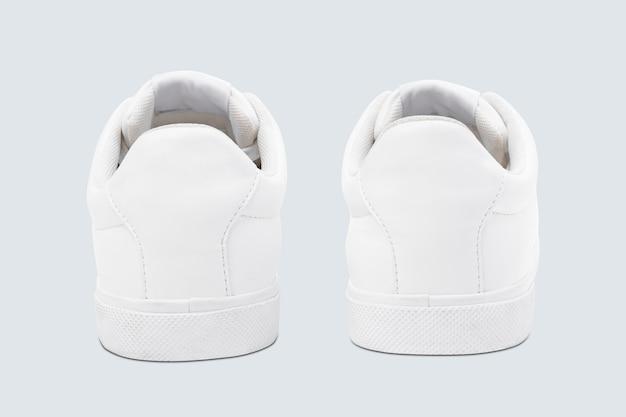 Tênis de streetwear branco slip-on unissex da moda