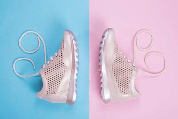 Tênis feminino rosa em uma cor
