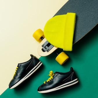 Tênis skateboard gorro urban style moda minimal design