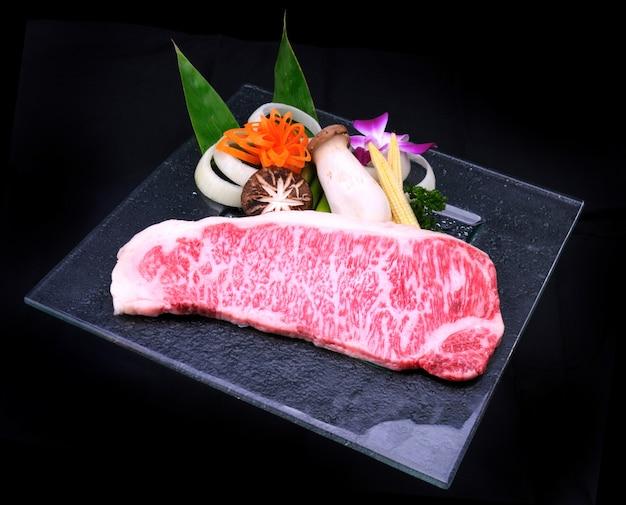 Teppanyaki de carne japonesa matsusaka
