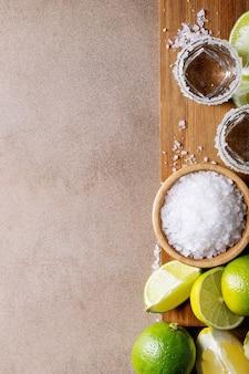 Tequila com sal e limão