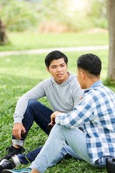 Ter tempo para conversar com um amigo