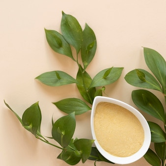 Terapia relaxante spa areia e folhas