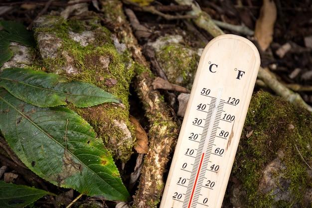 Termômetro com temperatura fria