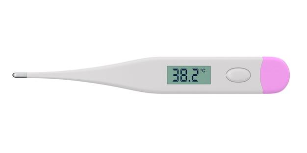 Termômetro na superfície branca isolada