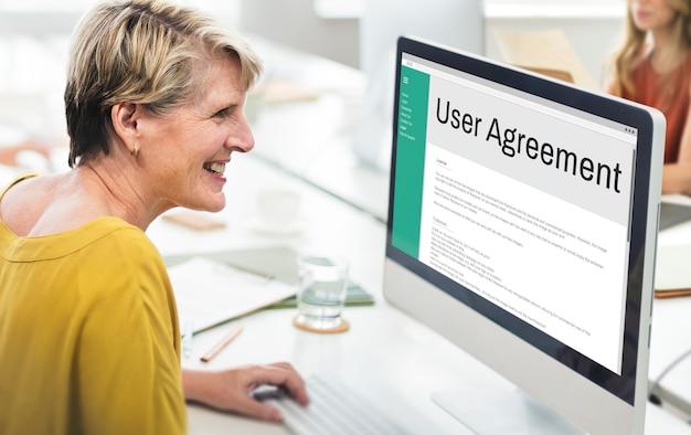 Termos e condições do contrato do usuário, regra, política, conceito de regulação