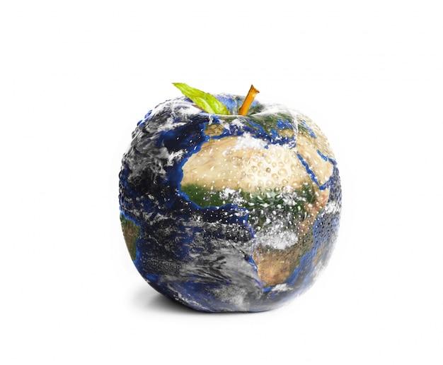 Terra da maçã 3d