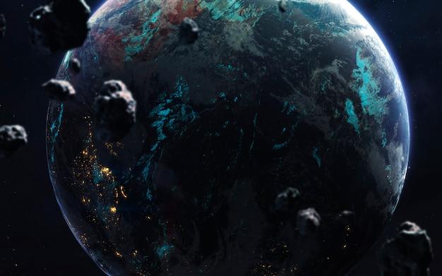 Terra. espaço profundo, fantasia de ficção científica