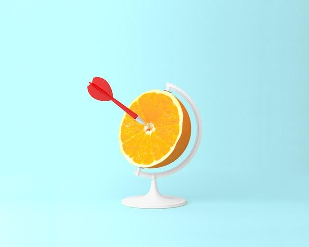 Terra globo laranja