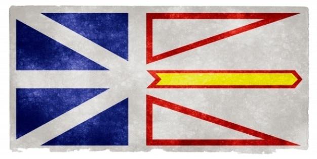 Terra nova e labrador grunge bandeira