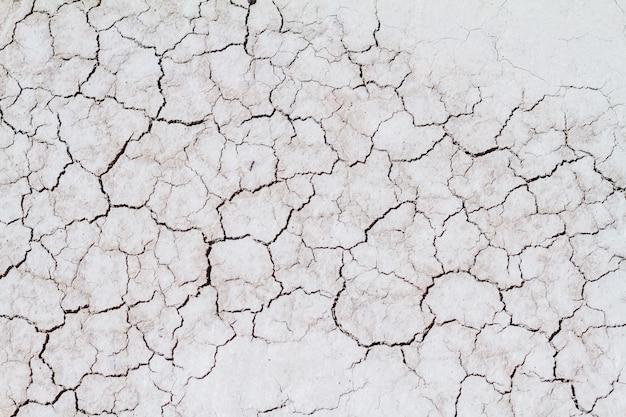 Terra rachada e sujeira, seca na natureza.