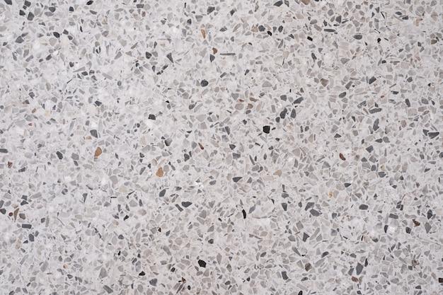 Terrazzo piso de pedra polida e padrão de parede
