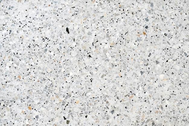 Terrazzo polido chão de pedra e fundo da parede