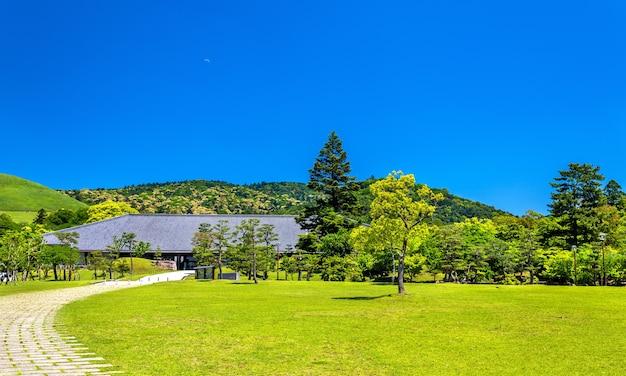 Terrenos do parque nara na região de kansai no japão Foto Premium
