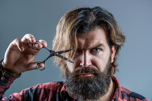 Tesouras de barbeiro, barbearia