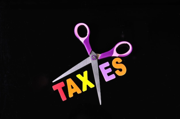 Tesouras e o alfabeto impostos