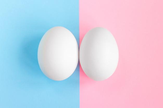 Teste de gravidez. conceito menino ou menina. símbolos do homem e da mulher. conceito de afiliação de gênero