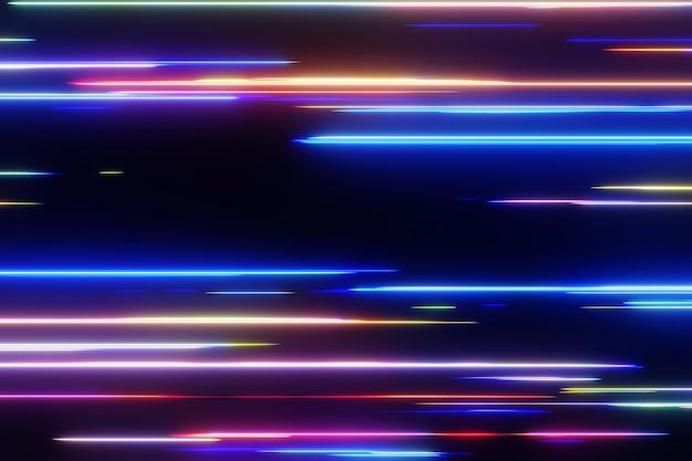 Teste de luz de tecnologia abstrata de fundo de rede digital de alta velocidade renderização 3d