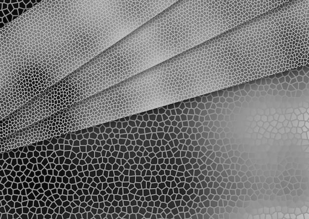 Teste padrão abstrato preto e branco