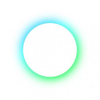 Teste padrão colorido brilhante redondo cores diferentes brilhantes dos botões de néon, o espaço para o texto. modelo de design para publicidade, grande círculo branco brilhante