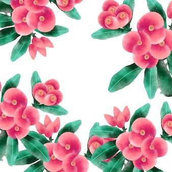 Teste padrão de flor rosa