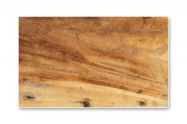 Teste padrão de madeira da tabela superior isolado no fundo branco.
