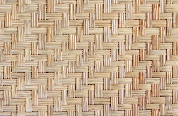 Teste padrão de tecelagem de bambu velho, fundo tecido da textura da esteira do rattan.