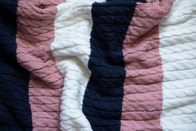 Teste padrão feito malha colorido do fundo da textura de lãs com alta resolução. vista do topo. copie o espaço.