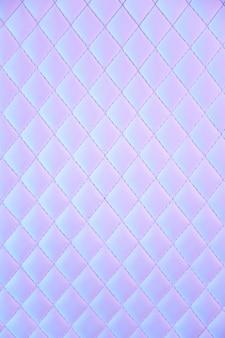 Teste padrão geométrico diamante couro pu acolchoado em luz neon