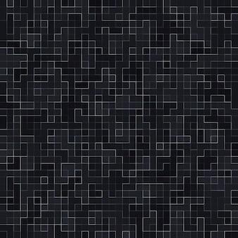 Teste padrão sem emenda abstrato. edifício adornado com mosaico cerâmico abstrato luxuoso da textura de mosiac preto. pedras cerâmicas coloridas abstratas.