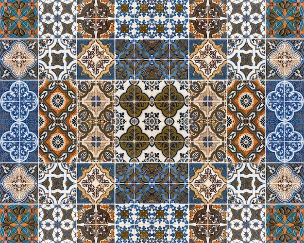 Testes padrões coloridos das telhas para o fundo.