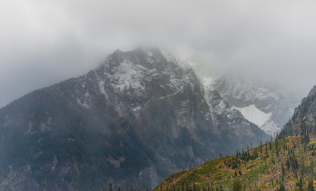 Teton range after storm