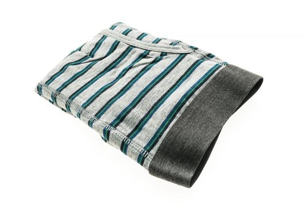 Têxteis de algodão uma cueca calções