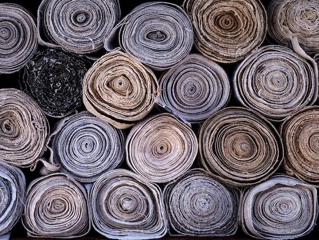 Têxteis de pano natural de luz de pano de rolo para o fundo