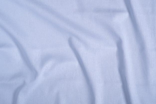 Têxtil de cor neutra azul, textura de tecido de linho