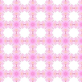 Têxtil pronto para impressão deliciosa, tecido de biquíni, papel de parede, embrulho. projeto chique do verão do boho adorável laranja. fronteira sem emenda do medalhão em aquarela. padrão sem emenda de medalhão.