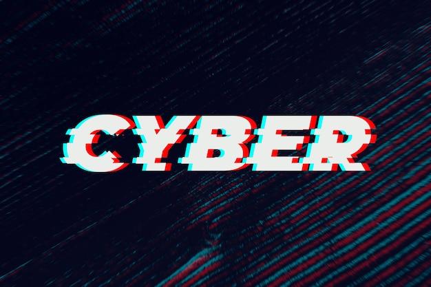 Texto cibernético em fonte falha