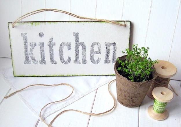 Texto da cozinha