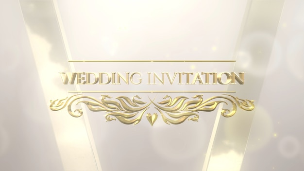 Texto de close up convite de casamento e moldura de luxo, plano de fundo do casamento