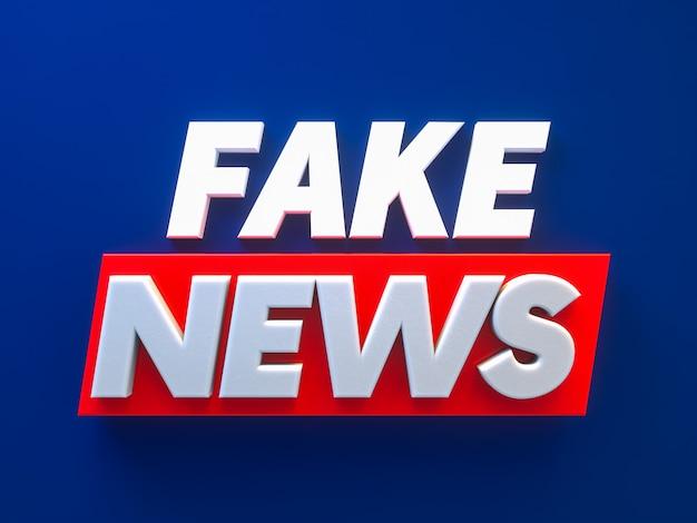 Texto de design de plano de fundo de notícias falsas